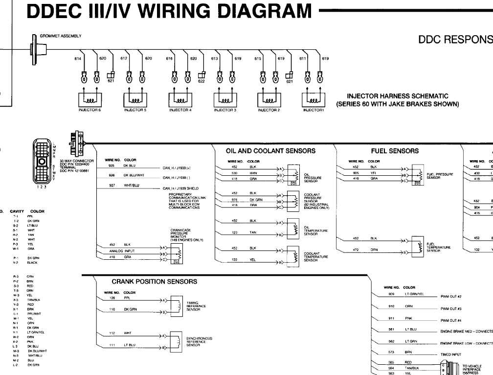 ddec ii iv wiring diagram. Black Bedroom Furniture Sets. Home Design Ideas
