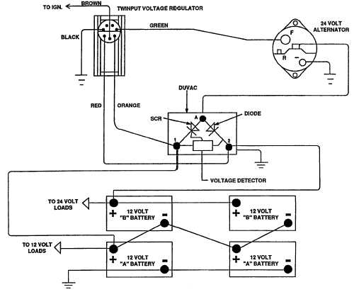 12 volt alternator wiring diagram volvo