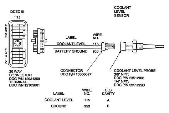 coolant level sensor and circuits